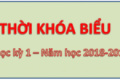 THỜI KHÓA BIỂU ÁP DỤNG TUẦN 05 BĂT ĐẦU TỪ NGÀY 24/09/2018 – NĂM HỌC 2018 – 2019